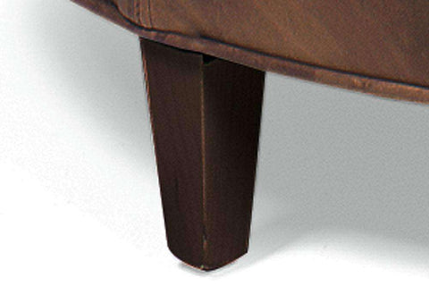 "Ottomans & Benches Andover ""Select-A-Size"" Round Leather Ottoman With Inlay Welting"
