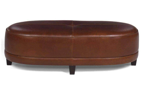 Ottomans & Benches Delaney Large Upholstered Oval Ottoman Bench
