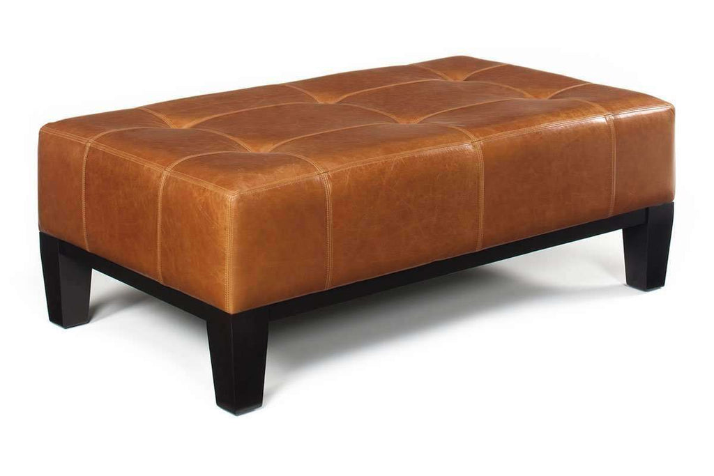 Picture of: Felix Contemporary Leather Cocktail Bench Coffee Table Ottoman