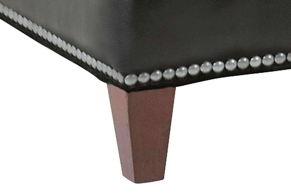 Strange Ward 43 Inch Square Contemporary Large Leather Cocktail Ottoman Gamerscity Chair Design For Home Gamerscityorg