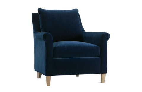 Penelope Roll Arm Fabric Accent Chair