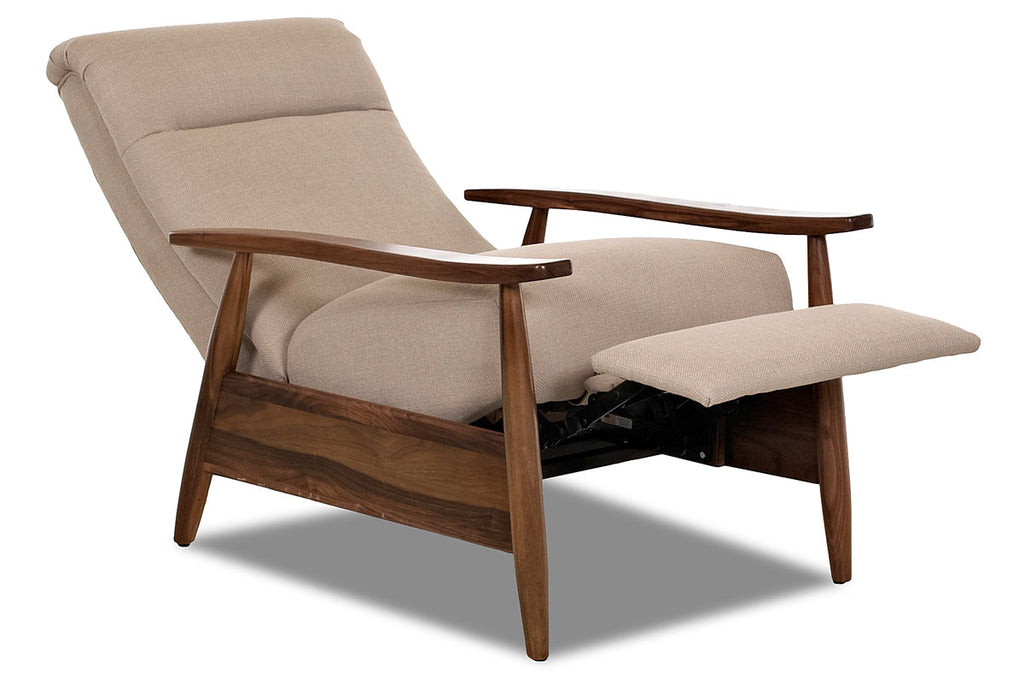 Picture of: Peter Small Mid Century Modern Fabric Recliner Club Furniture