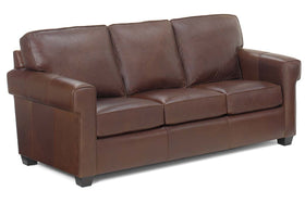 "Preston 81.5 Inch ""Designer Style"" City Loft Contemporary Leather Sofa"