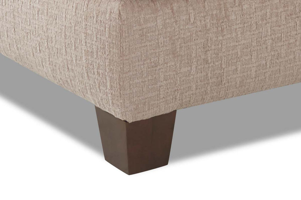 Quinton 52 Inch Square Fabric Upholstered Cocktail Ottoman