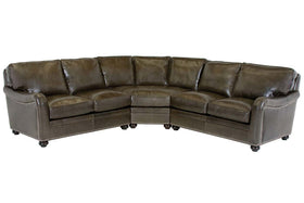 Rafferty 8 Way Hand Tied English Arm Sectional Sofa (As Configured)