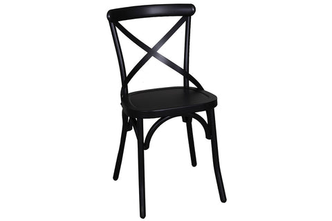 Reed 7 Piece Vintage Leg Table Set With Distressed Black Finish And X Back Chairs