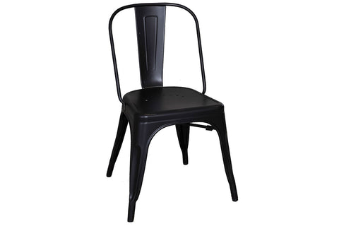 Reed 7 Piece Vintage Leg Table Set With Distressed Black Finish And Metal Bow Back Chairs