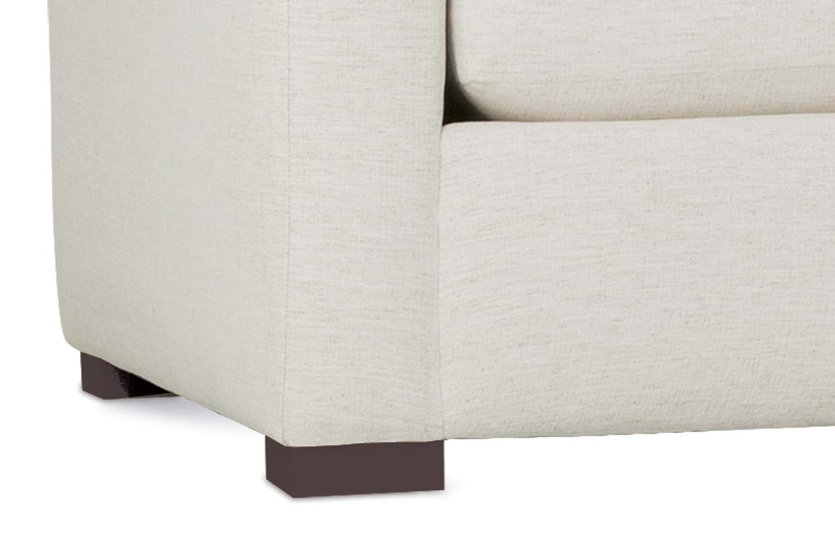 """Remi """"Designer Style"""" Modern Sectional With Seat Level Ottoman"""