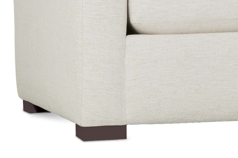 "Remi ""Designer Style"" Modern Sectional With Seat Level Ottoman"