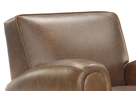 "Richmond ""Designer Style"" High End Club Style Leather Couch Set"