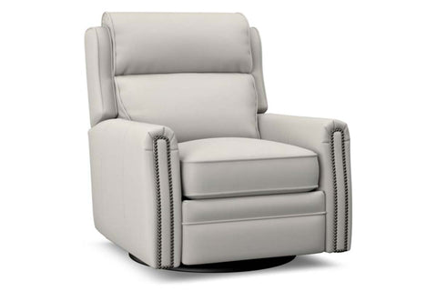 Ridley SWIVEL Leather Bustle Back Pop Up Recliner