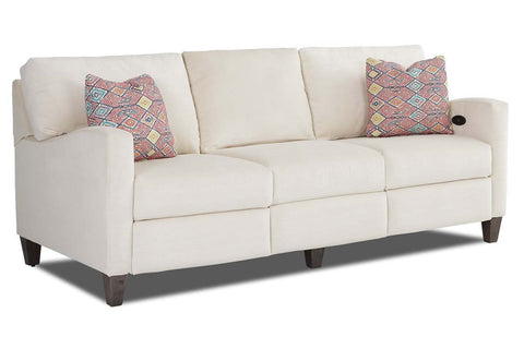 Rowen Modern Fabric Hybrid Power 2 Cushion Loveseat (Photo For Style Only)