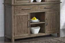 Rutherford Urban Living Dark Wood Storage Dining Buffet