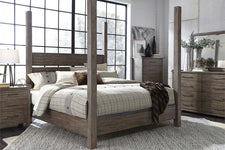 "Rutherford Queen Or King Industrial Style Poster Bed ""Create Your Own Bedroom"" Collection"
