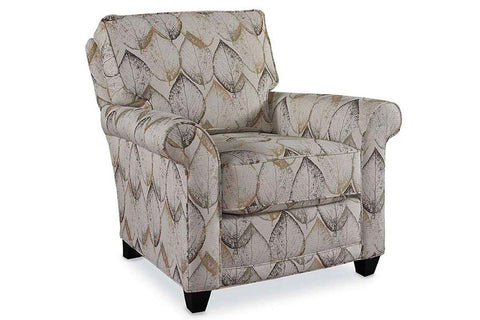 "Samantha ""Designer Style"" Traditional Fabric Upholstered Accent Armchair"