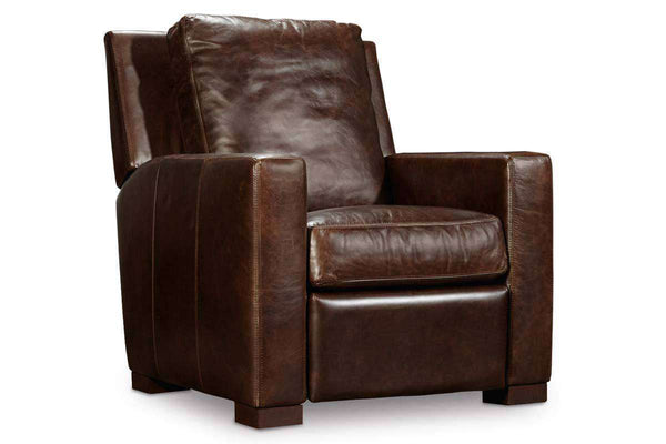 "Living Room Furniture Recliner Chairs Leather Samson Collis ""Quick Ship"" Modern Leather Recliner"