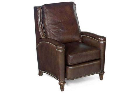 "Sayer Arroz ""Quick Ship"" Dark Leather Recliner Chair - Club Furniture"