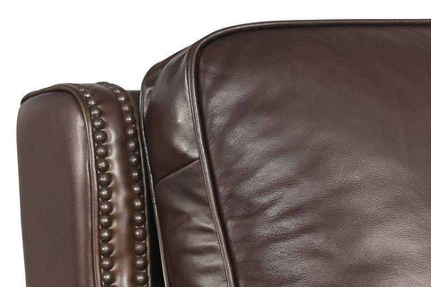 "Sayer Arroz Power ""Quick Ship"" Pillow Back Leather Recliner Chair - Club Furniture"
