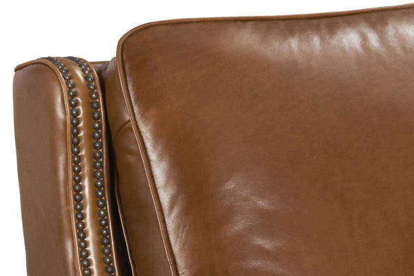 "Sayer Toro Power ""Quick Ship"" Transitional Cylinder Arm Leather Recliner - Club Furniture"