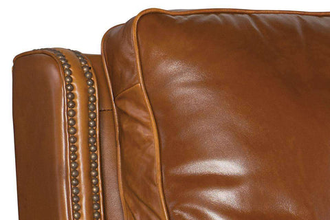 "Sayer Toro ""Quick Ship"" Tall Leather Cylinder Arm Leather Recliner - Club Furniture"