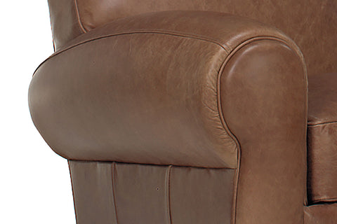 Sebastian Tight Back Distressed Leather Sofa And Recliner Set