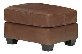 Sebastian Distressed Leather Ottoman Footstool
