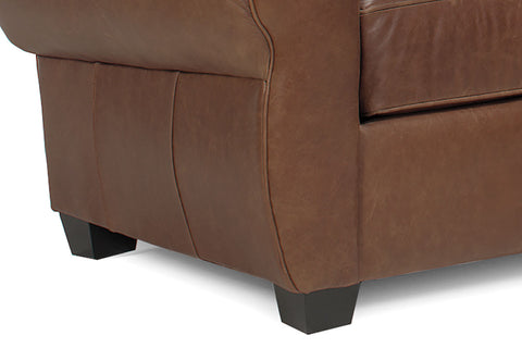 Sebastian Distressed Leather Queen Sleeper Sofa And Recliner Set