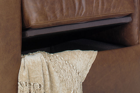 Sebastian Distressed Leather Storage Chair