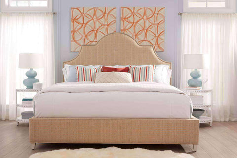 "Sedgefield ""Designer Style"" Tall Scalloped Fabric Platform Bed"