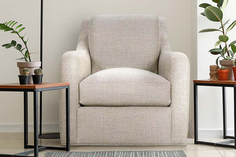 Shari Contemporary 360 Degree Fabric Swivel Accent Chair