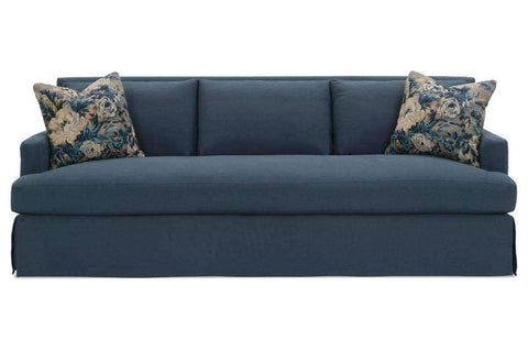 "Slipcovered Furniture Sierra ""Designer Style"" Bench Seat Grand Scale Slipcovered Sofa"
