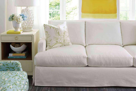 "Slipcovered Furniture Sierra ""Designer Style"" Three Seat Grand Scale Slipcovered Sofa"