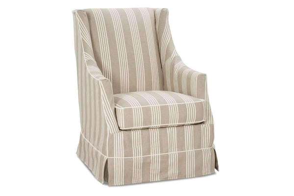 Slipcovered Accent Chairs And Chaise Ethel Tall Back Slipcovered Accent Chair With Sloping Arms