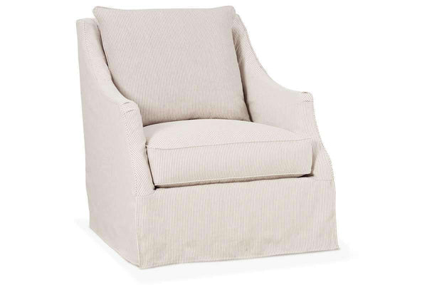 Giuliana Swivel Slipcover Accent Chair With Narrow Arms