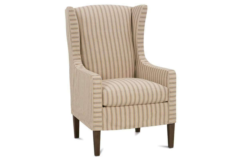 Accent Chairs Wingback.Hillary Slipcovered Tall Wing Back Accent Chair