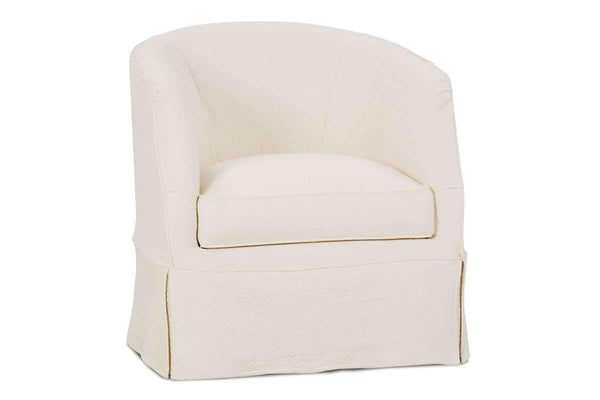 Slipcovered Accent Chairs And Chaise Lilianna Slipcovered Swivel Tub Chair