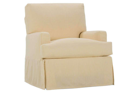 "Slipcovered Accent Chairs And Chaise Missy HERS Size ""Designer Style"" Swivel Slipcover Accent Chair"