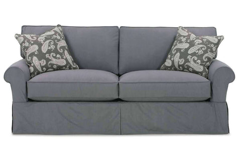 "Slipcovered Furniture Bethany ""Designer Style"" 78"" Slipcovered Apartment Size Full Sleeper Sofa"