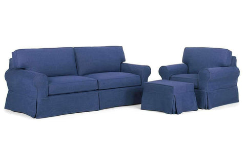 Slipcovered Furniture Camden Slipcover Queen Sleeper Sofa Set