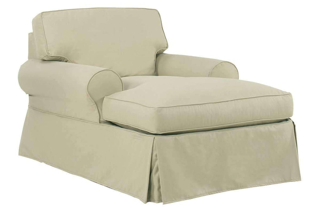 Slipcovered Furniture Camden Slipcover Two Arm Chaise Lounge ...