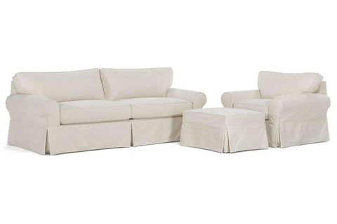 "Slipcovered Furniture Charleston ""Grand Scale"" Slipcover Sofa Set"
