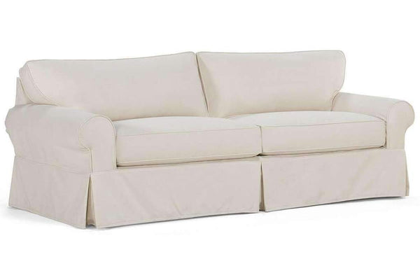 "Charleston ""Ready To Ship"" Slipcovered Sofa And Ottoman Combo (Photo For Style Only)"