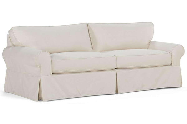 Slipcovered Furniture Charleston Grand Sofa With Deep Seats And Rolled Arms