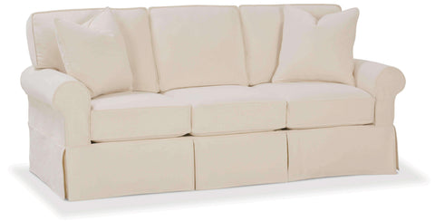 "Slipcovered Furniture Christine ""Designer Style"" Slipcovered Queen Sleeper Sofa"