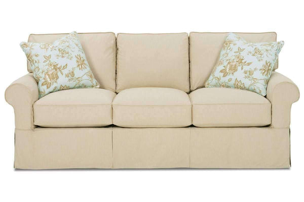 "Slipcovered Furniture Christine ""Designer Style"" Slipcovered Sofa"