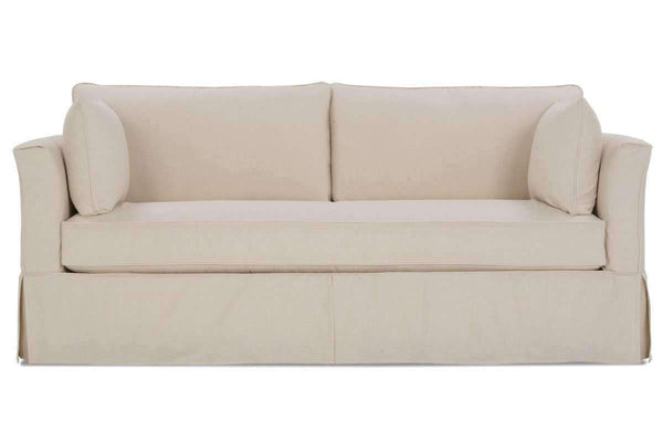 "Slipcovered Furniture Delilah ""Designer Style"" Fabric Single Bench Seat Slipcovered Sofa"