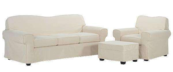 Slipcovered Furniture Maggie Slipcovered Queen Sleeper Sofa Set