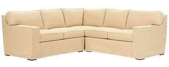 Slipcovered Sectional Sofa Alana 3 Piece Slipcovered Square Arm Sectional Sofa (As Configured)