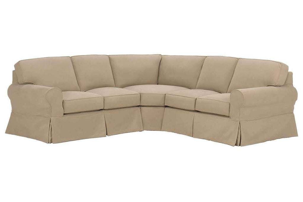 Slipcovered Sectional Sofa Camden Slipcovered 3 Piece Sectional Sofa (As  Configured) ...