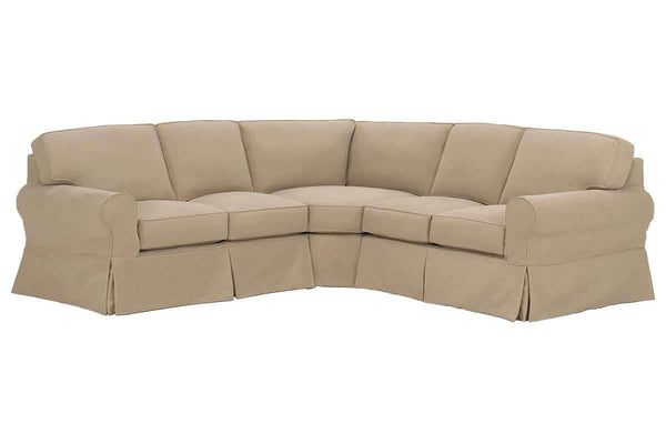 Slipcovered Sectional Sofa Camden Slipcovered 3-Piece Sectional Sofa (As Configured)